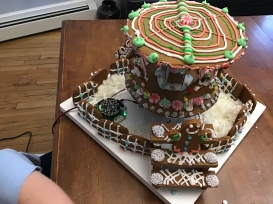 gingerbread top view