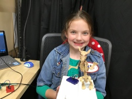 Josie with circuit playground express servo muskrat