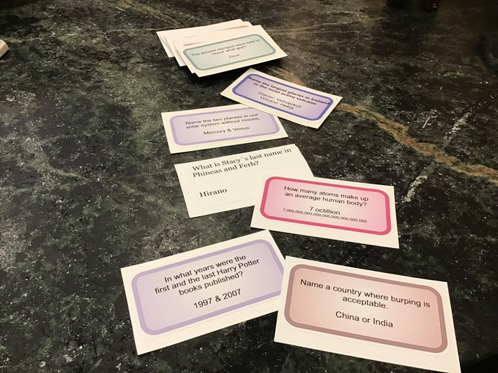 sample game cards